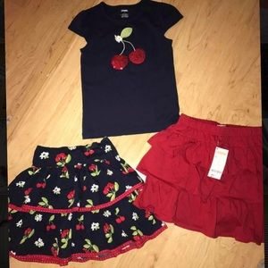 Gymboree girls skirt set size 7 new -